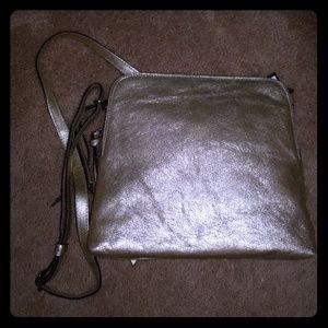 NWT Banana Republic Metallic Gold Crossbody Bag